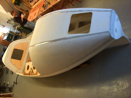 Gulliver under construction by Global Boat Works