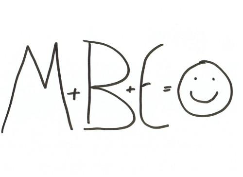 M + B + E = HAPPY