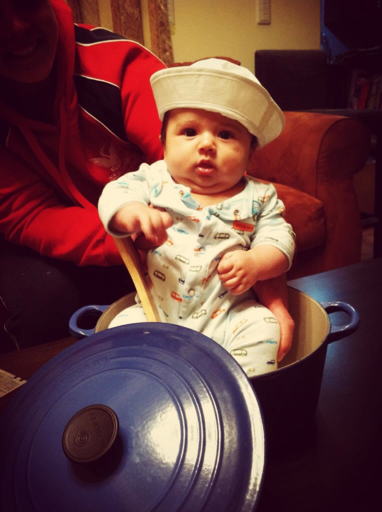 Never too young to start rowing...