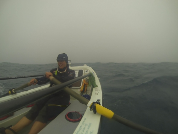 Foggy and wet rowing
