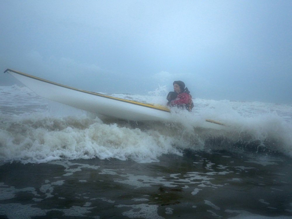 Avoiding being boshed or squashed in the surf is key on a paddling trip...