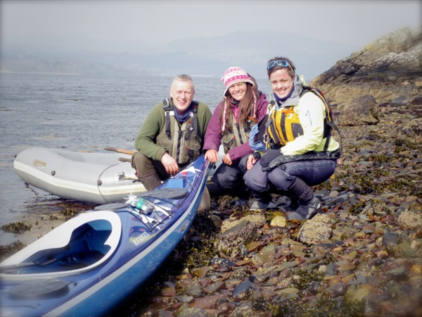 Patrick, Justine and I on the shores of Loch Fyne