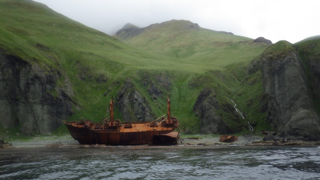 Most of the boats we saw were ex - boats,  wrecked and rusting