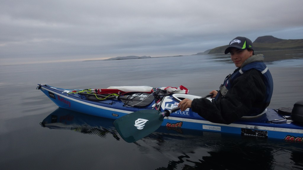 Eric's Aleut ancestors invented the 'iqyax'. He is keen to revive the tradition of paddling.