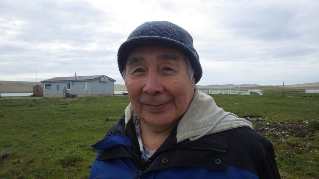 Elder Arnold Dushkin remembers when the village had 70 or 80 inhabitants