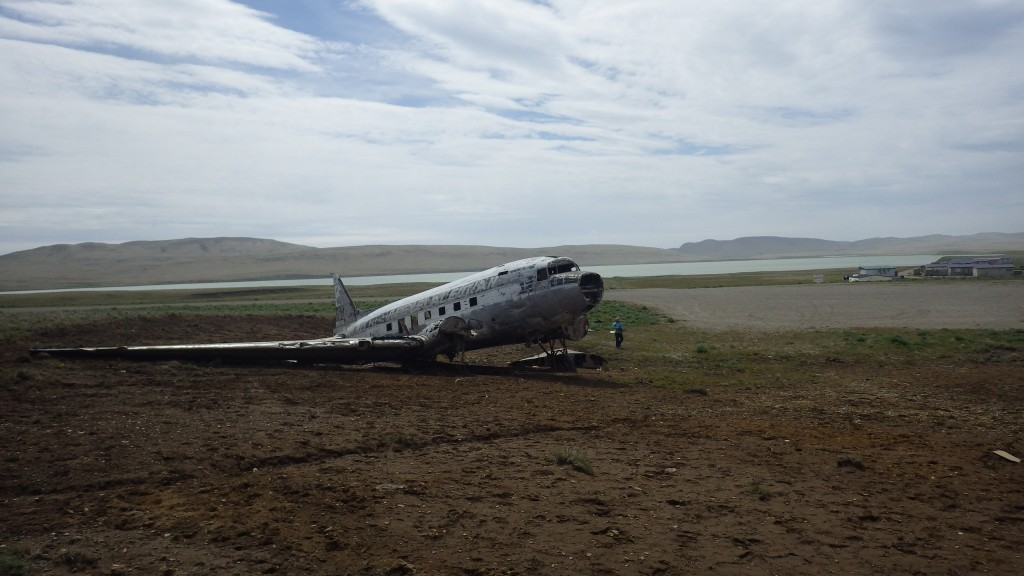 The Reeve Aleutian plane crashed in 1964 in bad weather and has sat quietly on the hill ever since. No one was hurt.