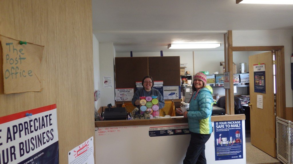 Smallest post office in the world perhaps? Best service from Postmaster Nina.