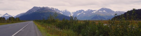 The road from Turnagain Pass