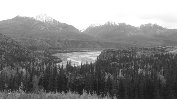Beautiful beautiful beautiful mountains looking over the Matanuska River