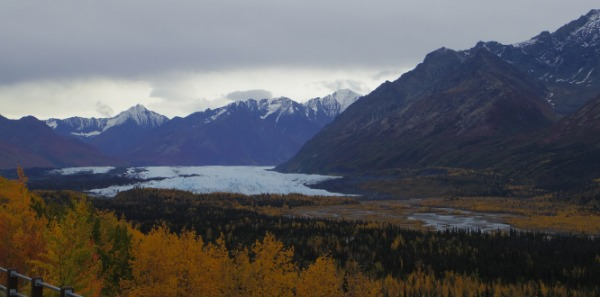 The bluey white of the Matanuska Glacier was mesmerising