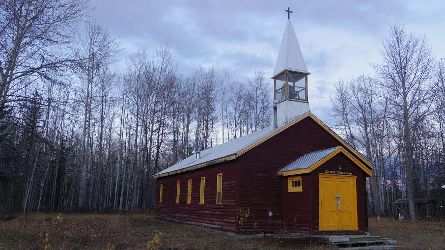 The Church in Lower Post. As an institution it has a lot to answer for in Canadian history.