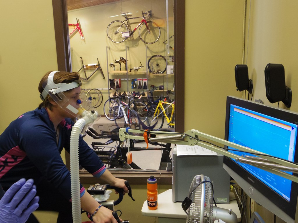 The guys at TCR Sport Lab put us through our paces with a VO2 Max test too