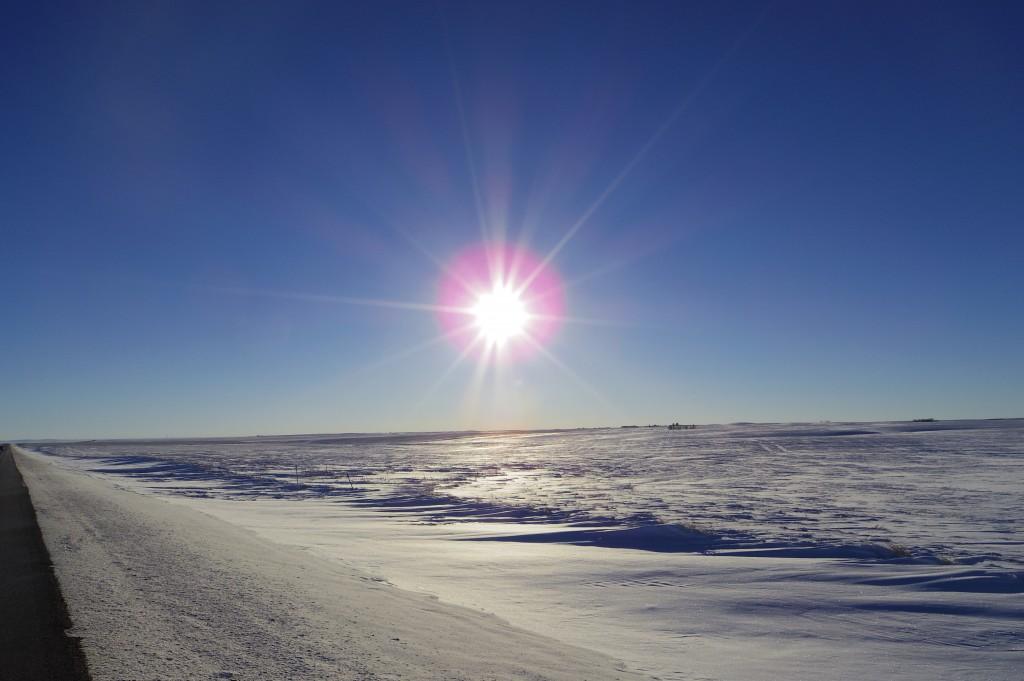 Sun on snow - mesmerising