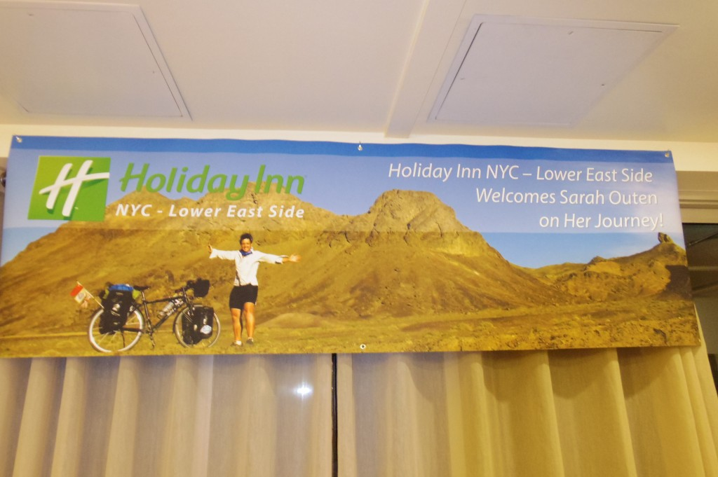 Surreal to be welcomed to the Holiday Inn with a banner of me and Hercules :-)