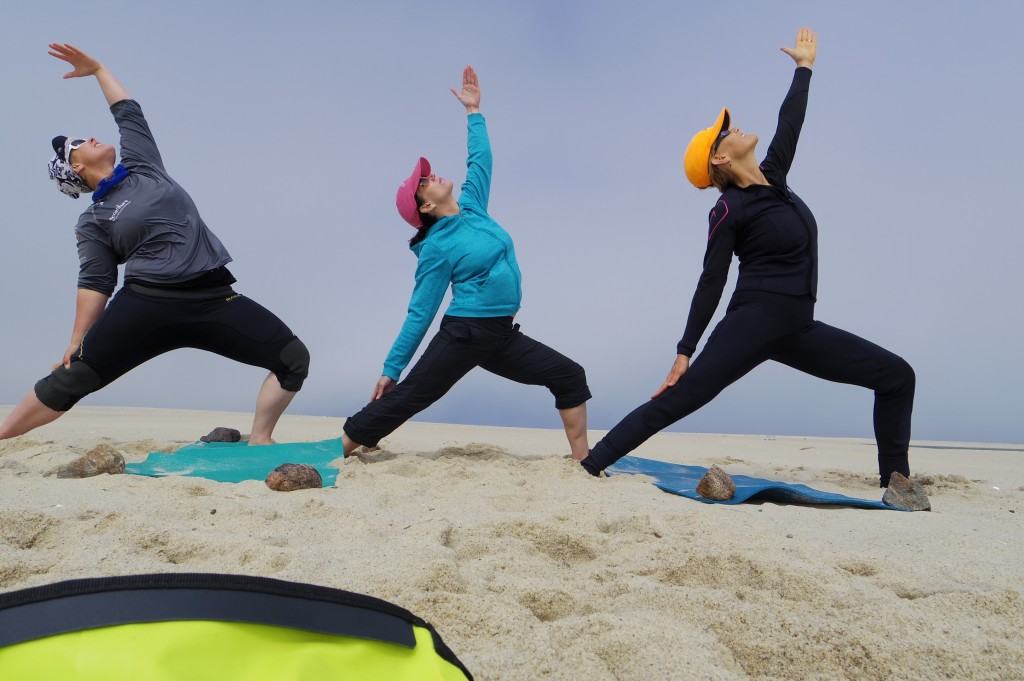 Beach yoga  - food for the soul