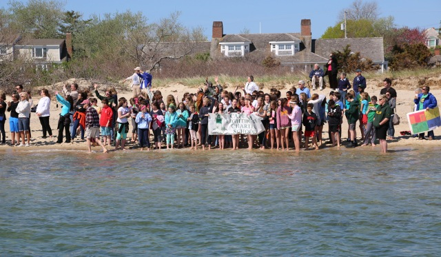 The best send off crowd a rower could ask for