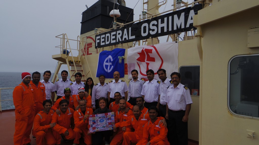The crew of Federal Oshima